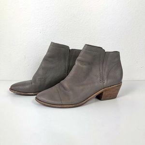JOIE Jodi Flint Grey Leather Booties Leather